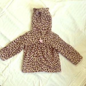 🌈 5/$20 Carters leopard print fleece jacket